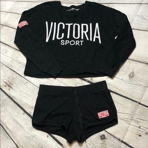 2 piece Victoria secret Sport shorts Set size M/Lg